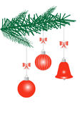 New Year decoration. Illustration of New Year decoration, red Stock Photography