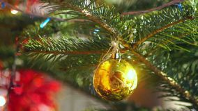 New year decoration ball. New year decoration nature Cristmas stock video footage