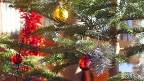 New year decoration ball. New year decoration nature Cristmas stock video