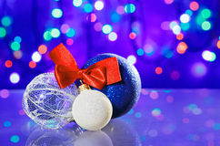 New Year decoration ball toys Royalty Free Stock Images