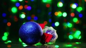 New Year decoration ball toys rotating Stock Photos