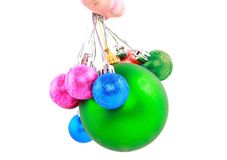 New Year decoration-balls. Isolated Stock Photography