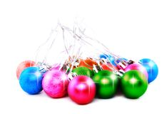 New Year decoration-balls. Isolated Stock Images