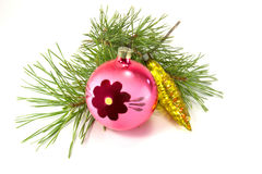 New Year decoration. Christmas ornaments are isolated on a white background Stock Photo