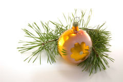 New Year decoration. Christmas ornaments are isolated on a white background Stock Images