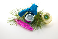 New Year decoration. Christmas ornaments are isolated on a white background Stock Image