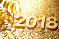 New year 2018. Decoration,closeup Royalty Free Stock Images