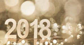 New year 2018. Decoration,closeup Royalty Free Stock Photo