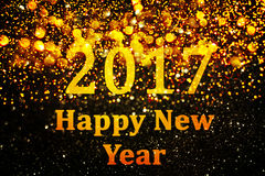 New year decoration,Closeup on golden backgrounds. New year decoration,Closeup on golden 2017 Stock Photography