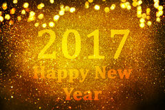 New year decoration,Closeup on golden backgrounds. New year decoration,Closeup on golden 2017 Royalty Free Stock Photos