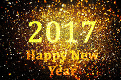 New year decoration,Closeup on golden backgrounds. New year decoration,Closeup on golden 2017 Stock Images