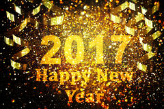 New year decoration,Closeup on golden backgrounds Stock Images