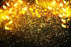 New year decoration,Closeup on golden backgrounds. New year decoration,. Christmas time Royalty Free Stock Images