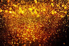 New year decoration,Closeup on golden backgrounds royalty free stock images