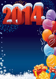 New Year decoration. New Year 2014 decoration with copy space for your message Stock Images
