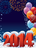 New Year decoration. New Year 2014 decoration with copy space for your message Royalty Free Stock Photo