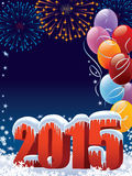 New Year decoration. New Year 2015 decoration with copy space for your message Stock Images
