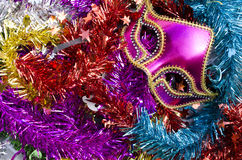 New Year decoration with fancy mask Stock Image