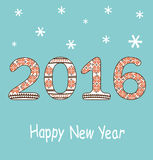 New Year 2016 decoration. Happy New Year 2016 decoration Stock Images