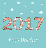 New Year 2017 decoration Royalty Free Stock Images