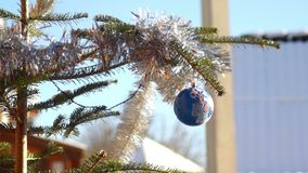 New year decoration ball. New year decoration nature Cristmas stock footage
