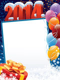 New Year 2014 decoration. New Year decoration ready for your message Stock Photo