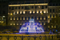 New year decoration of Saint-Petersburg at the Manege square. Stock Image