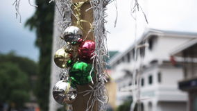 New year decoration at the Seychelles stock video