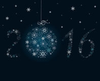 New Year decoration. New Year 2016 decoration from snowflakes Stock Images