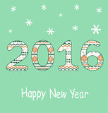 New Year 2016 Decoration. Vector Royalty Free Stock Photo