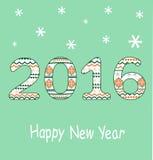 New Year 2016 Decoration Royalty Free Stock Photo