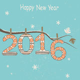 New Year 2016 decoration. Vector Royalty Free Stock Images