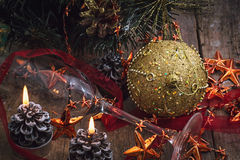 New year. Decoration for winter holidays Royalty Free Stock Photography