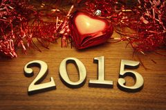 New Year 2015 decoration Royalty Free Stock Photos
