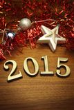 New Year 2015 decoration royalty free stock images