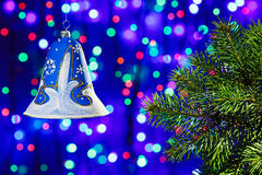 New Year decorations bell Royalty Free Stock Photos