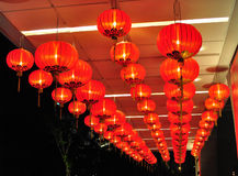New Year decorations with Chinese lanterns Royalty Free Stock Photography