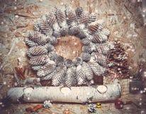 New year decorations. Christmas tree, cinnamon Stock Image