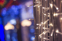 New Year decorations of the city centre in Moscow, Russia Royalty Free Stock Image