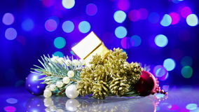 New Year decorations composition rotating stock video