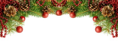 New year decorations header Royalty Free Stock Photo