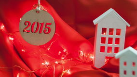 New Year 2015. Decorative composition homes on a stock video footage