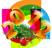 New Year decorative picture. With the numbers 2012 royalty free illustration