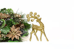 New Year deer isolated Stock Image