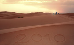 The new year in the desert Stock Photos