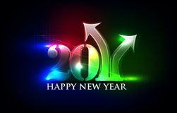 New year design. New year 2011 in colorful background design. Vector illustration Stock Photography