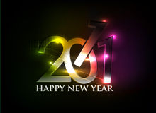 New year design. New year 2011 in colorful background design. Vector illustration Stock Images