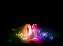 New year design. New year 2011 in colorful background design. Vector illustration Royalty Free Stock Photo