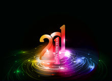 New year design. New year 2011 in colorful background design. Vector illustration Royalty Free Stock Images