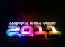 New year design. 3d text for new year 2011 in colorful background design. Vector illustration Royalty Free Stock Photos
